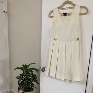 3/$30 H&M white dress with gold accents medium